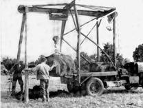 Röjning med stenvagn