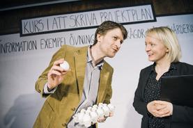Martin Östh och Mia Kjellkvist. Foto: AnnaCarin Isaksson
