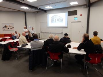 Besöket inleddes med ett föredrag om NV:s industrihistoria