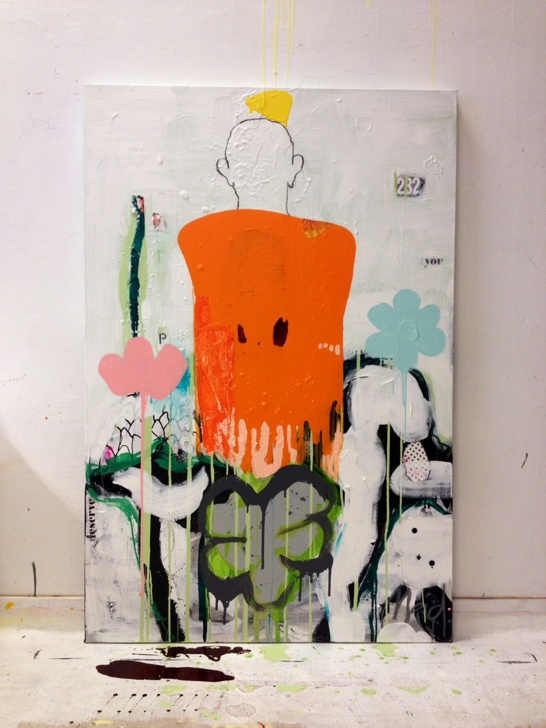 Fresh flowers for you, 150x100 cm