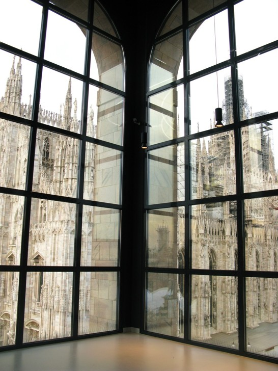 Vy inifrån konstmuseet Museo Novecento