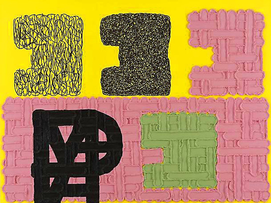 Jonathan Lasker, An image of the Self, 1990, olja på duk, 206x275 cm