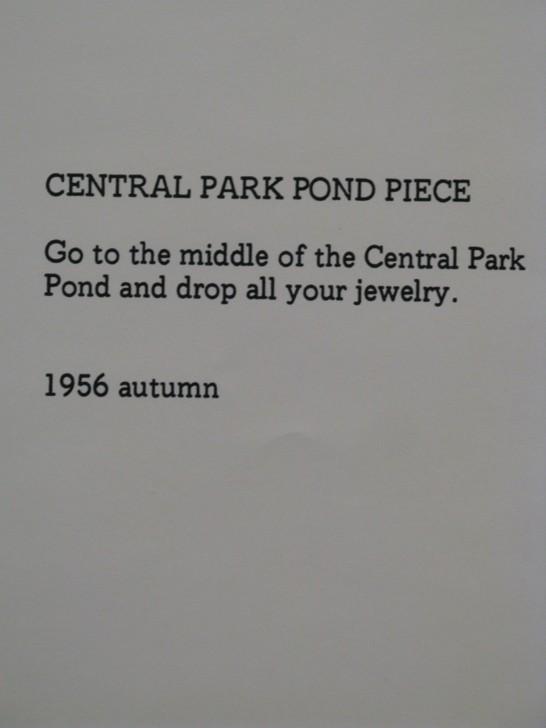 Ett av Yoko Onos poetiska intruktionsverk