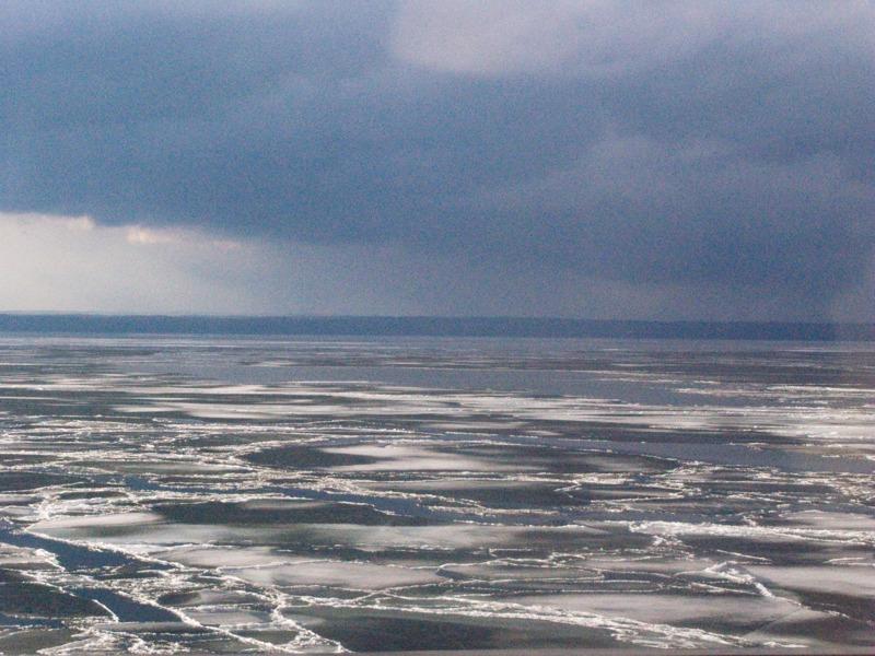 Islossning, Vättern, skärtorsdagen 2010