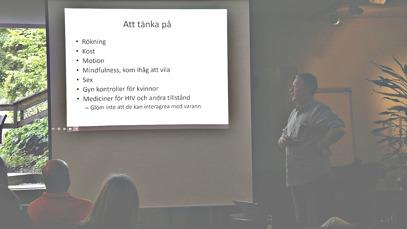 Sven Grützmeier föreläste om hiv, hälsa och åldrande.