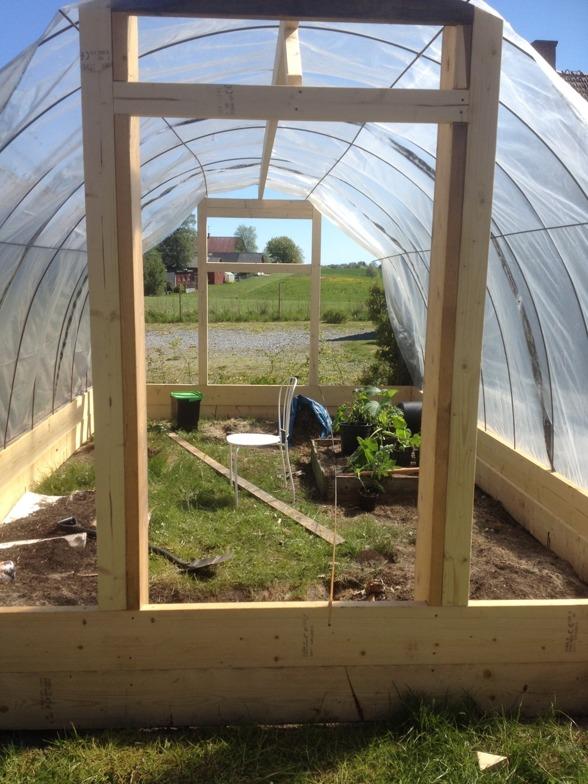 Hurra för vårt första växthus!