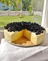 Honungscheesecake med blåbär