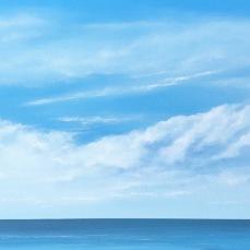 På havet 2019 olja 69 x 38 cm TILL SALU