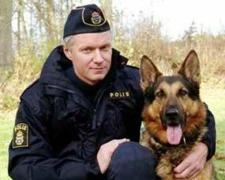 RONNY HOLMBER OCH JEBAS ERAX, ÅRETSPOLISHUND 2007