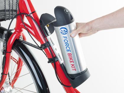 Force Bike Kit har ett lätt och smidigt flaskbatteri