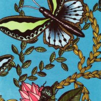 """detalj """"bugs blue"""" (sammet)"""