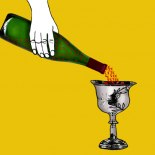 Vin eller saft i kalken