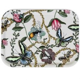 Bricka Bugs & Butterflies 27x20 cm - Bricka Bugs & Butterflies 27x20 offwhite