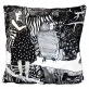 Svartvita bomull - Kuddöverdrag Flickan med prickig klänning bomull 48x48 cm