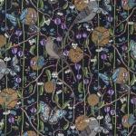 Bubblegum birds black 147 cm sammet repeat 50x64 cm