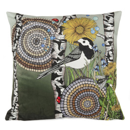 Wagtails Moody sammet 48x48 cm - Wagtails Moody green