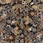 flores brun rapport 150x100 cm