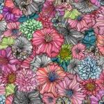 Flower power rose rapport 150x67 cm