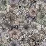 Flower power autumn brown pale rapport 150x68 cm