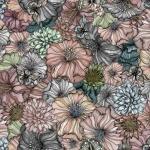 Flower power blekrosa rapport 150x67 cm