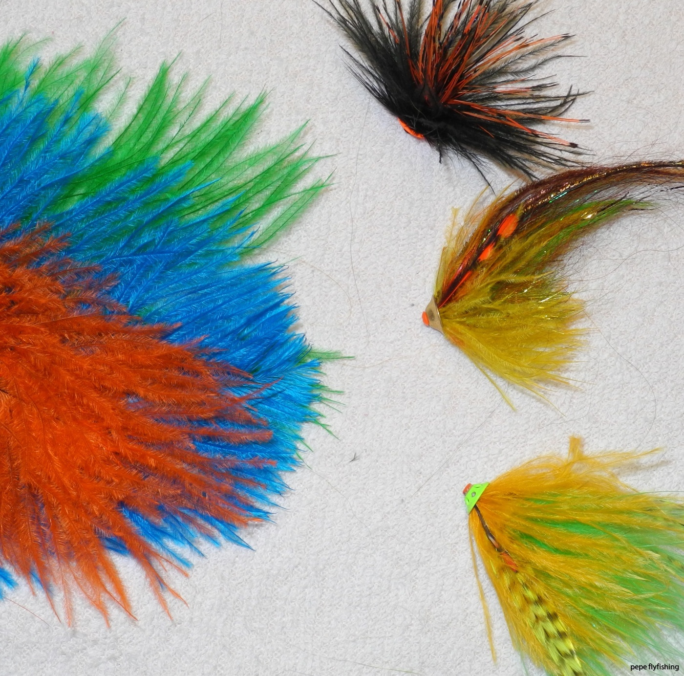 Ostrish Hackle flies