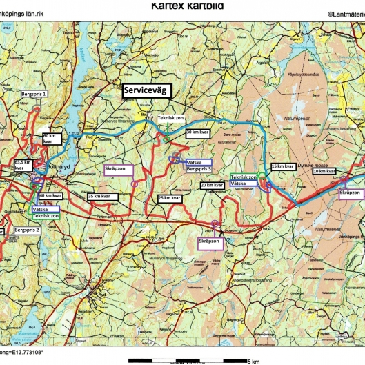 CykelRallarn 64 km 2017 med km & Skräpzon