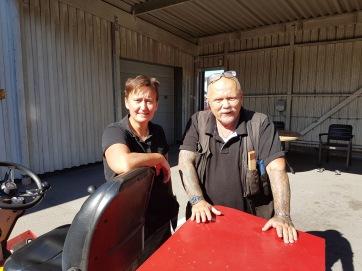 Trädlyckans fastighetsskötare: Catharina och Ola.