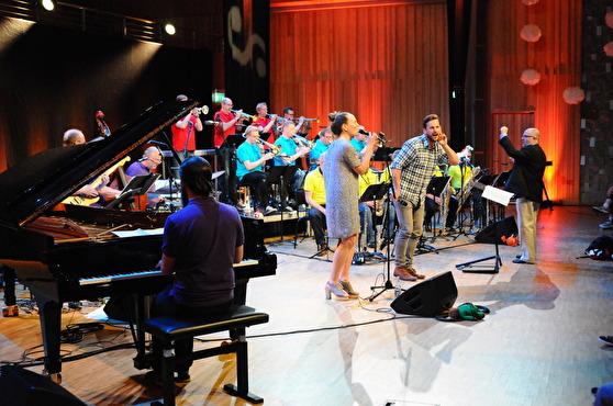 Emil, Pippi, Karlsson & Co Norrbotten Big Band. Foto Marie Lundgren