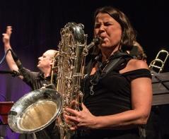 Shannon Mowday med Ensemble Denada, Pisa Jazz. Foto Francesco Martinelli