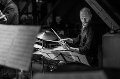 Karsten Bagge trummor. foto Jesper Michelsen