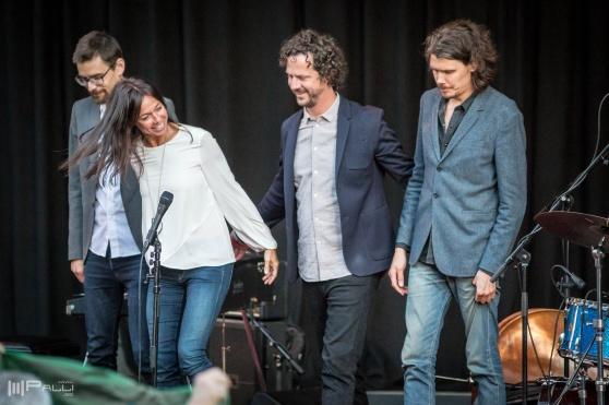 Rigmor Gustafsson kvartett vid Parksnäckan i Uppsala 2018. foto Palli Kristmundsson