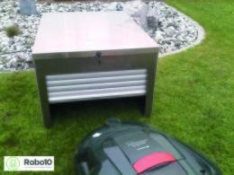 Låsbart hus/garage till robotgräsklippare
