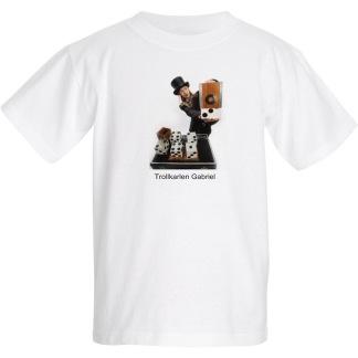 Barn T-shirt, Trollkarlen Gabriel med tärnings illusion. - Extra small - 2-4år