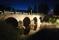 Stenbro i nattljus Foto: Morgan Karlsson