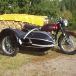 Triumph Trident -69 Bender-sidovagn foto Ewa