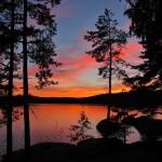 Solnedgång vid Drögen