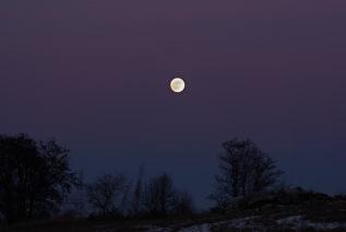 Kvällsmånen, V Eneby, som under morgontimmarna blev Blodmånen (gick ej att se p.g.a. mulet!