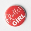 Mixed Roller Derby Pins 25mm - Roller Girl - Red