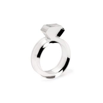 Diamond Acrylic Ring Clear - Strl 9 / 19 mm