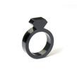 Diamond Acrylic Ring Black - Strl 5 / 15,6 mm
