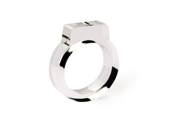 Signet Acrylic Ring Clear - Strl 9 / 19 mm