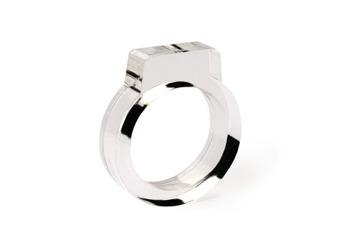 Signet Acrylic Ring Clear - Strl 9 / 19 mm