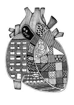 Anatomiskt hjärta - Poster