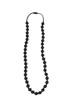 Lexi Svart - Teething necklace, mintfärgat knäppe