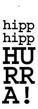 Etikett + inslagning - Hipp hipp hurra!