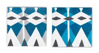 Kakel - 1 st Tilt a Tile/Grå och blå