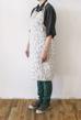 Barr förkläde - Tvättat linne natur/svart