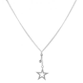 Stjärnfall - Silverhalsband