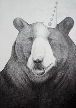 Kalasbjörn - 50 x 70 cm