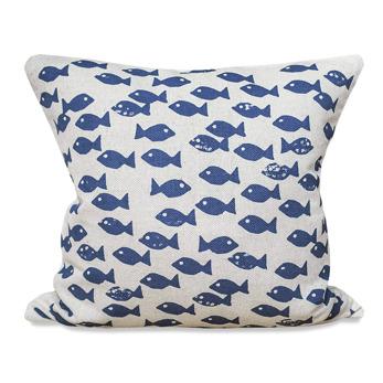 Blue fish kuddfodral - Natur